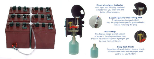 Golf Car Battery Single Point Watering System